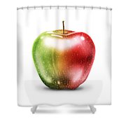 Painting Of Apple Shower Curtain