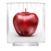 Painting Of Red Apple Shower Curtain