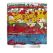 Painting Peeling Wall Shower Curtain