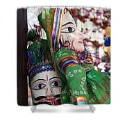 Pair Of Large Puppets At The Surajkund Mela Shower Curtain