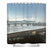 Palace Pier And Shoreham Power Station Shower Curtain