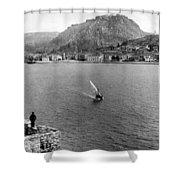 Palamidi Fortress - Greece - C 1907 Shower Curtain