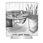 Palette And Brushholder Shower Curtain