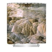 Palette Spring In Mammoth Hot Springs Shower Curtain
