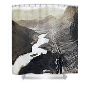 Palisades Railroad View - California - C 1865 Shower Curtain