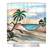 Palm Cost Shower Curtain