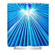 Palm Frond In Blue Shower Curtain