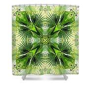 Palm Kaleidoscope 6 Shower Curtain