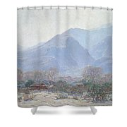 Palm Springs Landscape With Shack Shower Curtain by John Frost