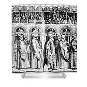 Palm Sunday Procession Shower Curtain