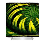Palm Tree Abstract Shower Curtain