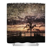 Palms And Docks Shower Curtain