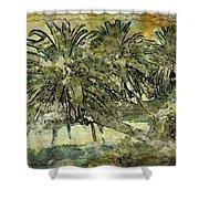 Palms Haiku Shower Curtain