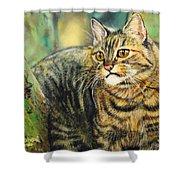 Palo Verde Kitty Shower Curtain