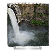 Palouse Falls In Spring Shower Curtain