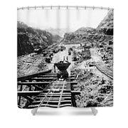 Panama Canal - Construction At The Culebra Cut - C 1910 Shower Curtain