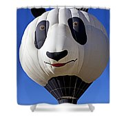 Panda Bear Hot Air Balloon Shower Curtain