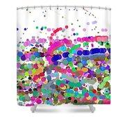 Pandemonium Of Colours Shower Curtain