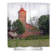 Panemunes Castle. Lithuania. Shower Curtain