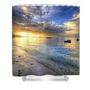 Panglao Island Sunrise Shower Curtain