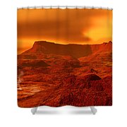 Panorama Of A Landscape On Venus At 700 Shower Curtain
