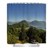 Panorama View Over Mountain Shower Curtain