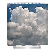 Panoramic Clouds Number 1 Shower Curtain