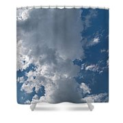 Panoramic Clouds Number 1o Shower Curtain