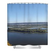 Panoramic Mississippi Shower Curtain