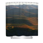 Panoramic Over Sapper Hill Shower Curtain