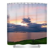 Panoramic View From Dunluce Castle Shower Curtain