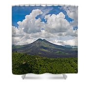 Panoramic View Of A Volcano Mountain  Shower Curtain