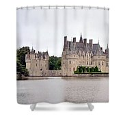 Panoramic View Of Chateau De La Bretesche Shower Curtain