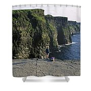 Panoramic View Of Cliffs, Cliffs Of Shower Curtain