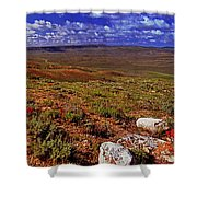 Panoramic View Of Fossil Butte Nm Valley Shower Curtain