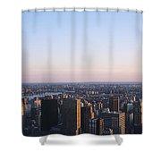 Panoramic View Of Manhattan Shower Curtain