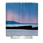 Panoramic View Of Skerries Islands Shower Curtain