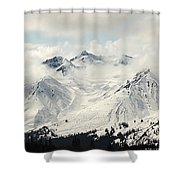 Panoramic View Of Snow-covered St Shower Curtain