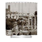 Panoramic View Via Sacra Rome Shower Curtain