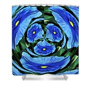 Pansy In Triplicate Shower Curtain