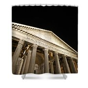 Pantheon At Night. Rome Shower Curtain