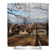 Papa Toms Cabin In The Woods Shower Curtain