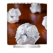 Paper Balls Shower Curtain