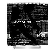 Paper Dance Shower Curtain