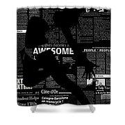 Paper Dance Shower Curtain by Naxart Studio
