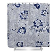 Paper Flowers - Blue Shower Curtain