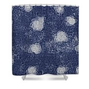 Paper Flowers Abstract - White Shower Curtain