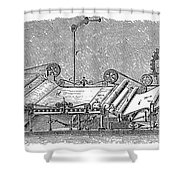 Paper Machine, C1880 Shower Curtain