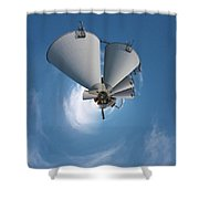Paper Mill In The Sky Shower Curtain