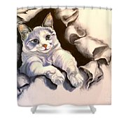Paper Tiger Shower Curtain